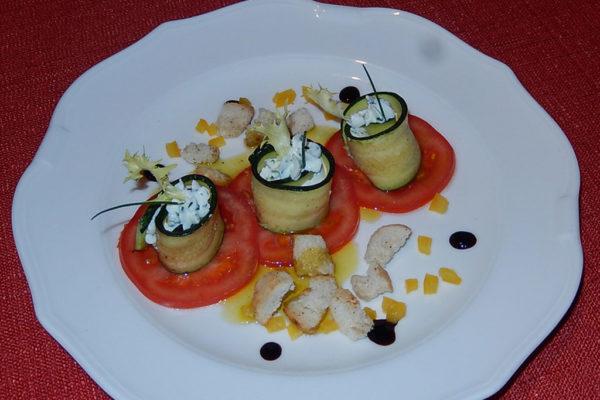 Rotoli di crema di formaggio Passeiertal