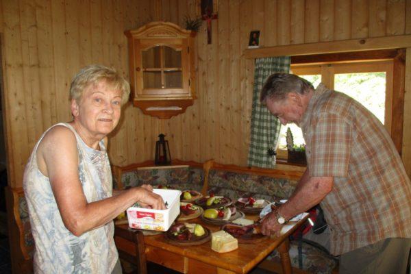 Almhütte, Südtirol, Gästewanderung, Speck, Genuss