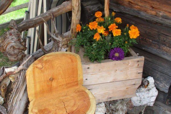 Blumen  Holz In die Mahder Sommer