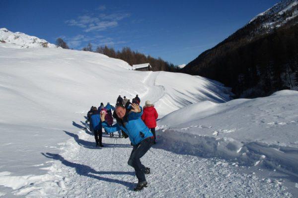 Winterwandern Silvesterwoche Spass